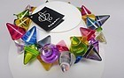 Sobral Large Cone Multi Colored Necklace - NWT