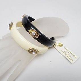 Black and Cream Bangles by Amitra Singh - NWT