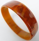 Plain Rootbeer Colored Bakelite Bangle Bracelet