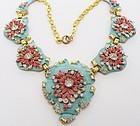 Art Deco Guilded, Enameled Rhinestone Necklace