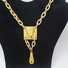 Unusual Art Deco Celluloid Egyptian Revival Necklace