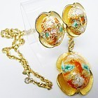 Judy Lee Easter Egg Necklace and Earring Set