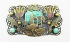 1930s Egyptian Revival Brooch by Neiger Brothers.