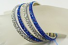 Four Lovina Rhinestone Bracelets - Blue and Clear  NWT
