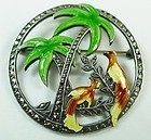 Art Deco Uncas Sterling Brooch with Marcasites