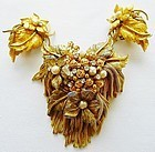 DeMario Large Brooch and Earring Set