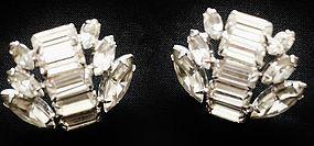 Brilliant Rhinestone Earrings - Baguettes & Marquis