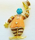 Hattie Carnegie Clown Brooch