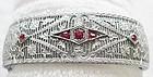 Edwardian Filigree Bracelet with Ruby Red Stones