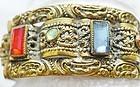 Art Deco Czech Jeweled Bracelet - Stunning