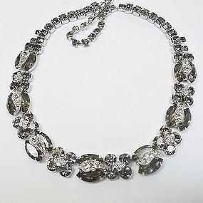 "Weiss Black ""Diamond"" 1950s Necklace"