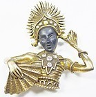 PAM African Princess Brooch