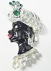 Elegant Francois Rhinestone Lady Blackamoor