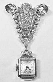 Pennino 1940's Sterling Lapel Watch - Very Rare