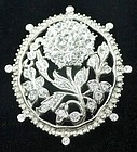 Non-typical Trifari Rhinestone Brooch-