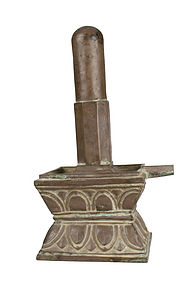12-13th Century Khmer Culture Lingam and Yoni