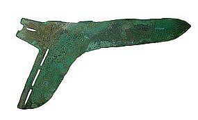 Massive Dong Son Bronze Dagger Ax Ge