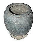 Ancient Khmer Culture Black Pottery Vessel