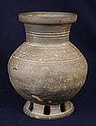 Korean Stoneware Vase Silla Period 6th Century