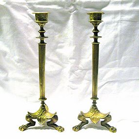 Bronze Candlesticks 19th Century