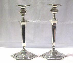 William Durgin Sterling Silver Candlesticks