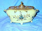 French Faience Yellow  Inkstand