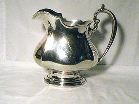 Whiting Sterling Water Pitcher; Harvard Owl Club