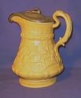 Ridgway Tam O'Shanter Stoneware Pitcher; Pewter Lid