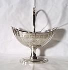 Georgian Irish Silver Large Sugar Basket