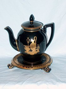 English Regency Teapot and Stand