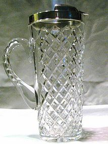 Hawkes Crystal and Sterling Silver Cocktail Pitcher