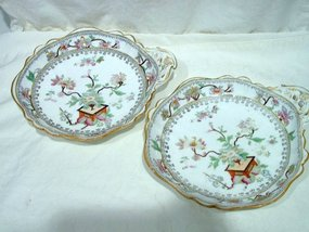 Pair of Georgian Spode Cabinet Plates India Pattern