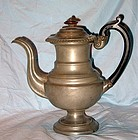 English Pewter Coffee Pot by James Dixon and Sons