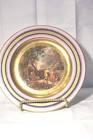 German Cabinet Plate Odysseus and Telemachos
