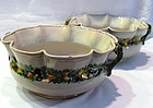 Pair of Italian Ulisse Cantagalli Faience Bowls