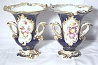 Pair of English Coalport Porcelain Vases