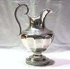 Coin Silver Pitcher Newell Harding