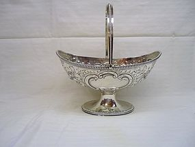 Georgian Silver Sugar Basket 1785