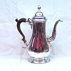 Large Georgian Sterling Silver Coffee Pot 1774