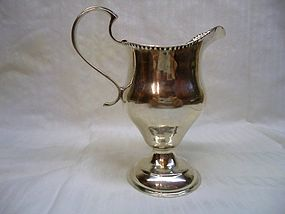 Georgian Silver Cream Jug; London 1777