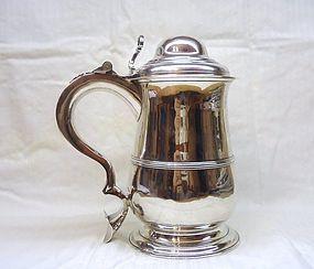 George II Sterling Silver Tankard; 1759