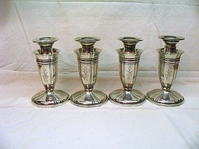 Gorham Sterling Silver Candlesticks Set of Four