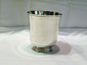 Rare Large Georgian Sterling Footed  Beaker 1756