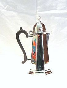 George I Style Coffeepot; Goldsmiths and Silversmiths