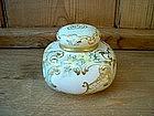 American Belleek Porcelain Dresser Jar
