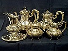 Continental Sterling Silver Tea and Coffee Set