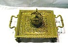 Brass Inkstand with Mythological Figure