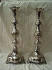 Russian Silver Candlesticks