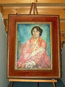 """Robed Woman"";  O/C by William Bradford Green"