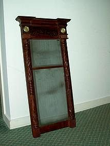 Federal Two Part Wall Mirror; circa 1820